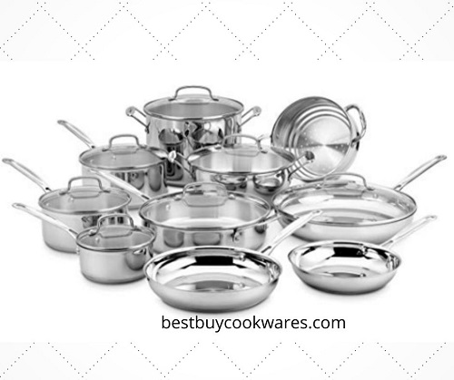 Cuisinart 17 PieceStainless SteelCookware Chef's Classic Set,