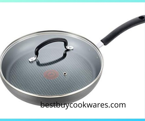 Ultimate Hard Anodized Nonstick 12 Inch Fry Pan with Lid, Stainless Steel Cookware